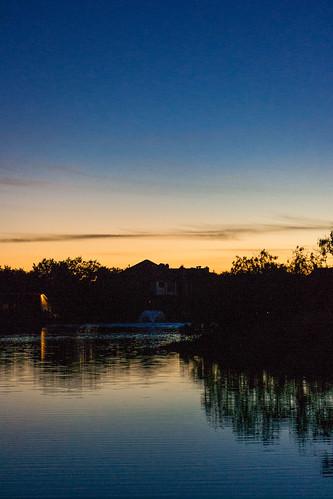 sunset sky lake reflection water fountain texas unitedstates corpuschristi samsung samsungcamera imagelogger galaxynx samsunggalaxynx
