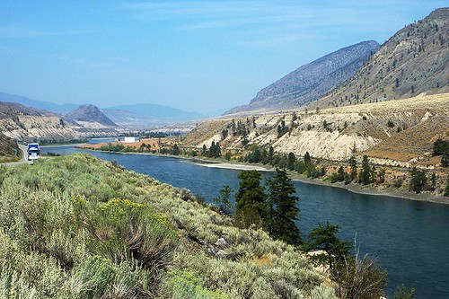 Thompson River between Ashcroft and Spences Bridge, Thompson Okanagan, British Columbia