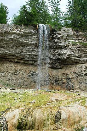 Waterfall near Fairmont Hot Springs, Columbia River Valley, BC Rockies, British Columbia, Canada