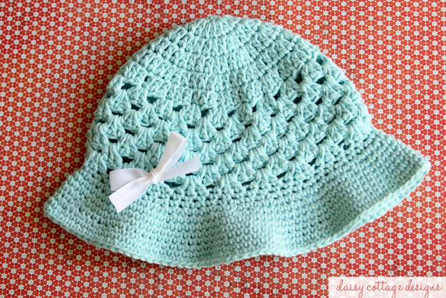 05d498b6a0c312 Crochet Hat Pattern for Summer - Daisy Cottage Designs