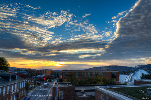 sunrise dawn virginia downtown charlottesville hdr d5100 bobmical