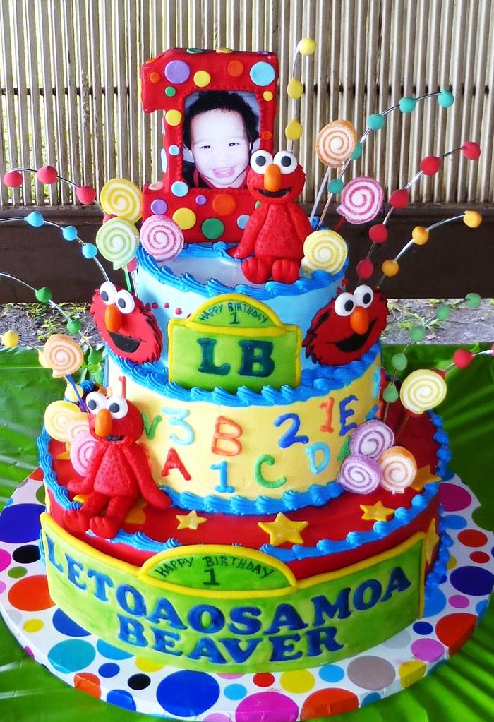 Terrific Elmo Birthday Cake Loren Bailey Flickr Funny Birthday Cards Online Necthendildamsfinfo