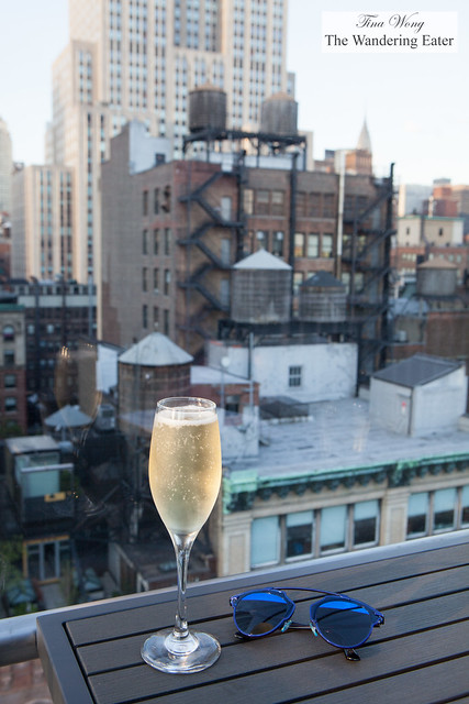 My glass of Prosecco and a view of Midtown
