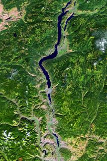 Landsat image of the Okanagan Valley, British Columbia, Ca
