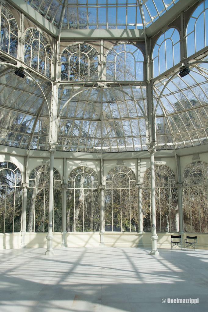 Palacio de Cristalin sisätiloissa