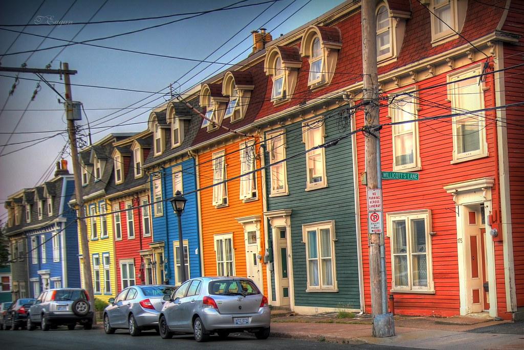 Jelly Bean Row >> Jelly Bean Row Colourful Row Houses In Downtown St John S Flickr