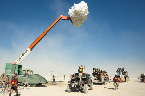The Ardent Mobile Cloud Platform rains on the DPW Parade, Burning Man 2013 | by mr. nightshade