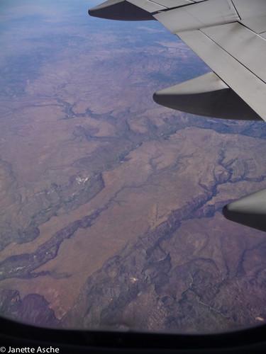 travel arizona usa america flight qantas viewfromplane wildercreekcanyon upperburrocreekwilderness bozarthmesa goodwinmesa pinkycanyon