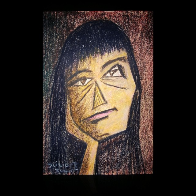 Mulher Triste 2000 Pastel Pintura Desenho Arte Pain Flickr