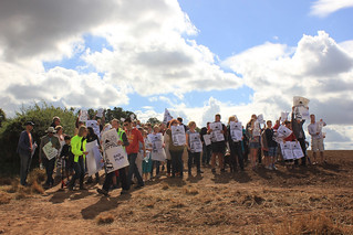Protesters on Sharphill, 2013 | by Guy R