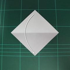 วิธีพับกระดาษเป็นรูปลูกสุนัข (แบบใช้กระดาษสองแผ่น) (Origami Dog) 005