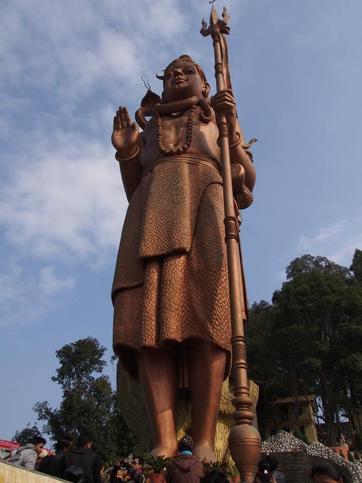 estatua Shiva en Nepal