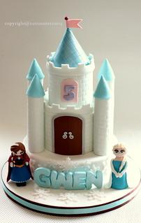 Outstanding Frozen Castle Cake Ratna Sutera Flickr Funny Birthday Cards Online Aeocydamsfinfo