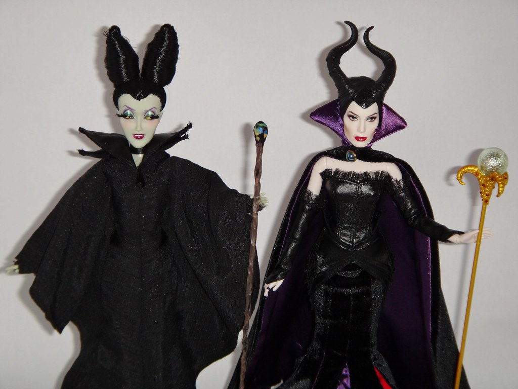Designer Maleficent And Dfc Maleficent With Swapped Outfit