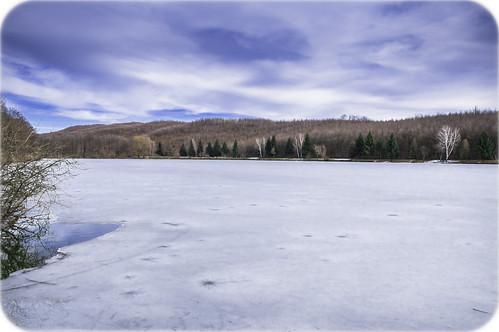 croatia lakes winter sky