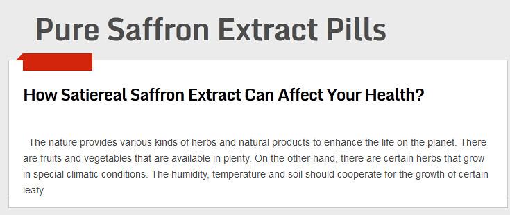 Pure Saffron Extract Pills The Greatest Advantage Of The E Flickr