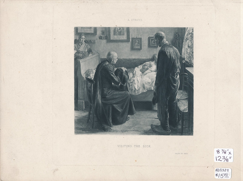 RD3329 Alexander Theodore Honore Struys - Visiting The Sick - Salon De 1895