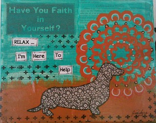 Relax - I'm Here To Help - mixed media on canvas | by JanCari