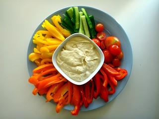 8) Vegetable & Dip Platter - صحن خضار وحمص | by Abdulla Al Muhairi
