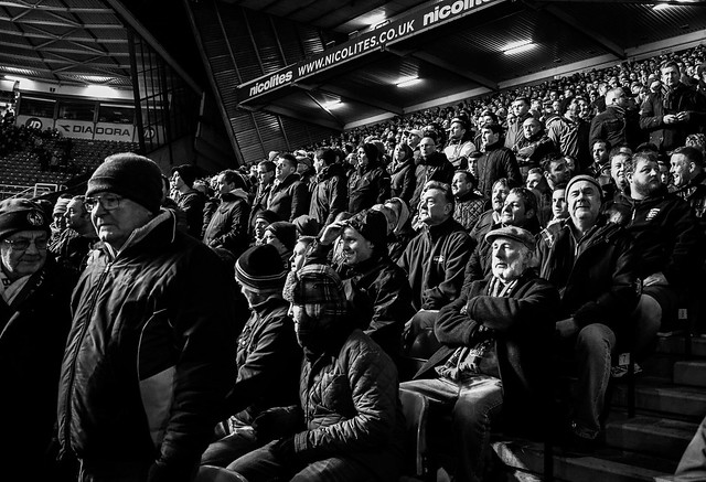 Bristol Rovers fans at Birmingham City for FA Cup game