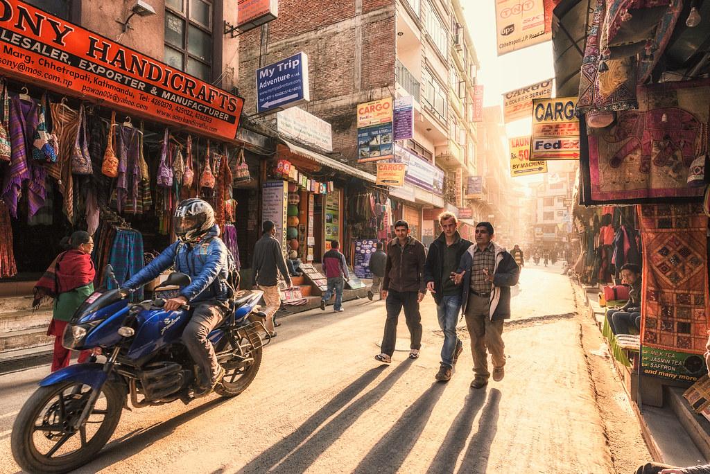 Travel | Kathmandu | Nepal | Street at Thamel district Kathm