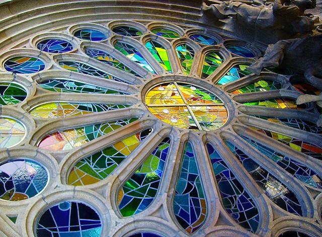 SPANIEN-Barcelona,  im Innern der Sagrada Familia, 71134/3004
