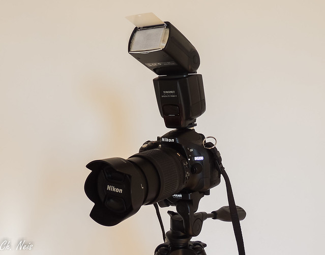 Nikon D5200 with Nikkor DX 18-105mm lens and Yongnuo Speedlite