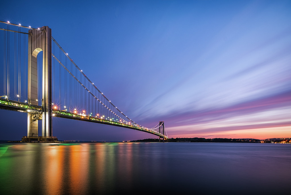 Verrazano Bridge Sunset | This is a Spring sunset shot of th… | Flickr