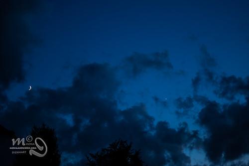 sunset sun night stars evening venus jupiter luxembourg