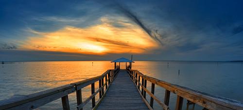 sunset pier al gulf alabama daphne