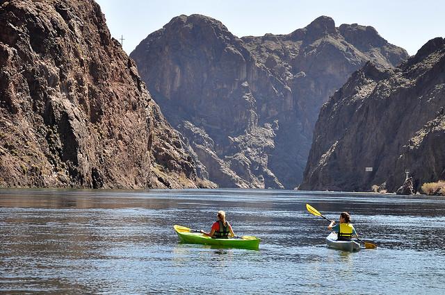 Kayaking through the Black Canyon Wilderness Area