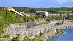 Marmoraton worked-out iron-ore mine - Hastings County, Ontario.