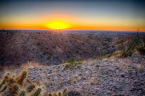 sunset arizona cactus mexico hdr yuma hotdoghill