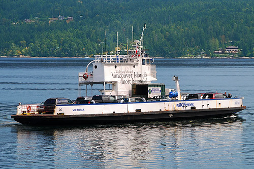 The Mill Bay to Brentwood Bay ferry departs Mill Bay, Vancouver Island, British Columbia