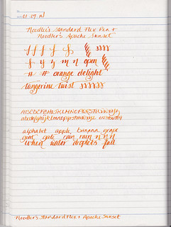 Noodler's Standard Flex and Apache Sunset Sample | by inkophile