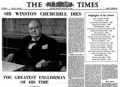 24th January 1965 - Death of Sir Winston Churchill | by Bradford Timeline