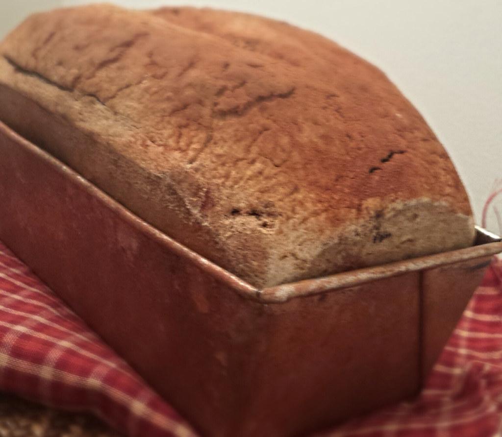ae30da5637b Primitive Bread Loaf - Fake Bread in a Rusty Tin With Scen… | Flickr