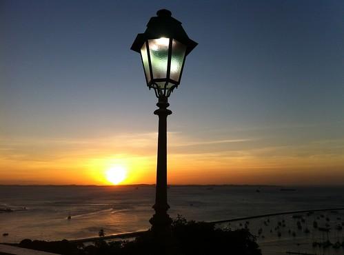 sunset sea sun sunlight lamp beautiful skyline horizon