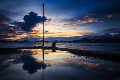 sunset cloud reflection hongkong magicmoment