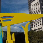 Yellow art at Lincoln Center