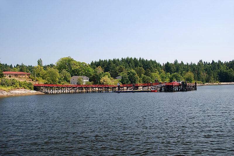 Government Wharf at Penelakut Island (Kuper Island), Gulf Islands, Vancouver Island, British Columbia, Canada