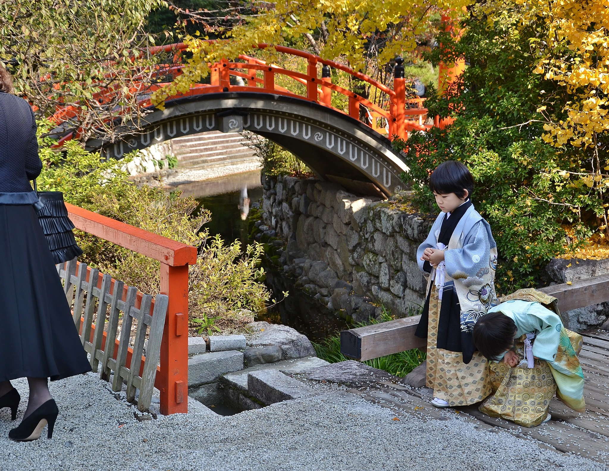 Shimogamo Shrine on Shichi-go-San Festival day