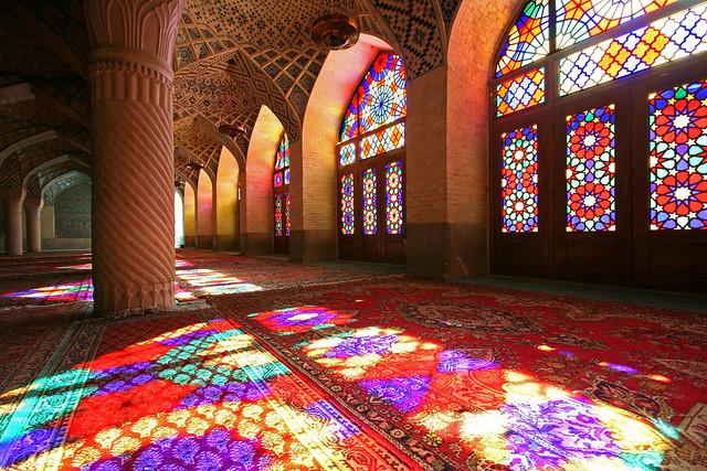 Featured Flickr photo - Nasir al-Mulk Mosque in Shiraz, Iran.