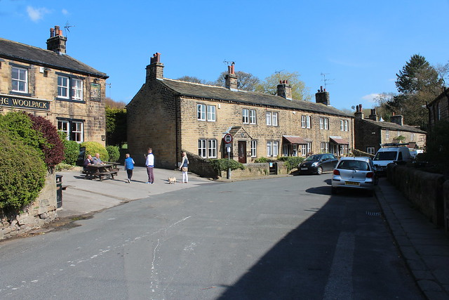 The Woolpack and Main Street Esholt