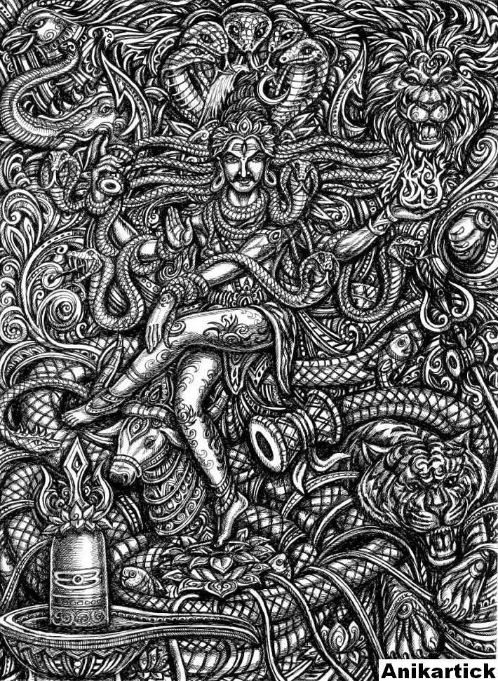 LORD SHIVA / ART / DRAWING / CONCEPT / CREATIVE ART / Anik… | Flickr