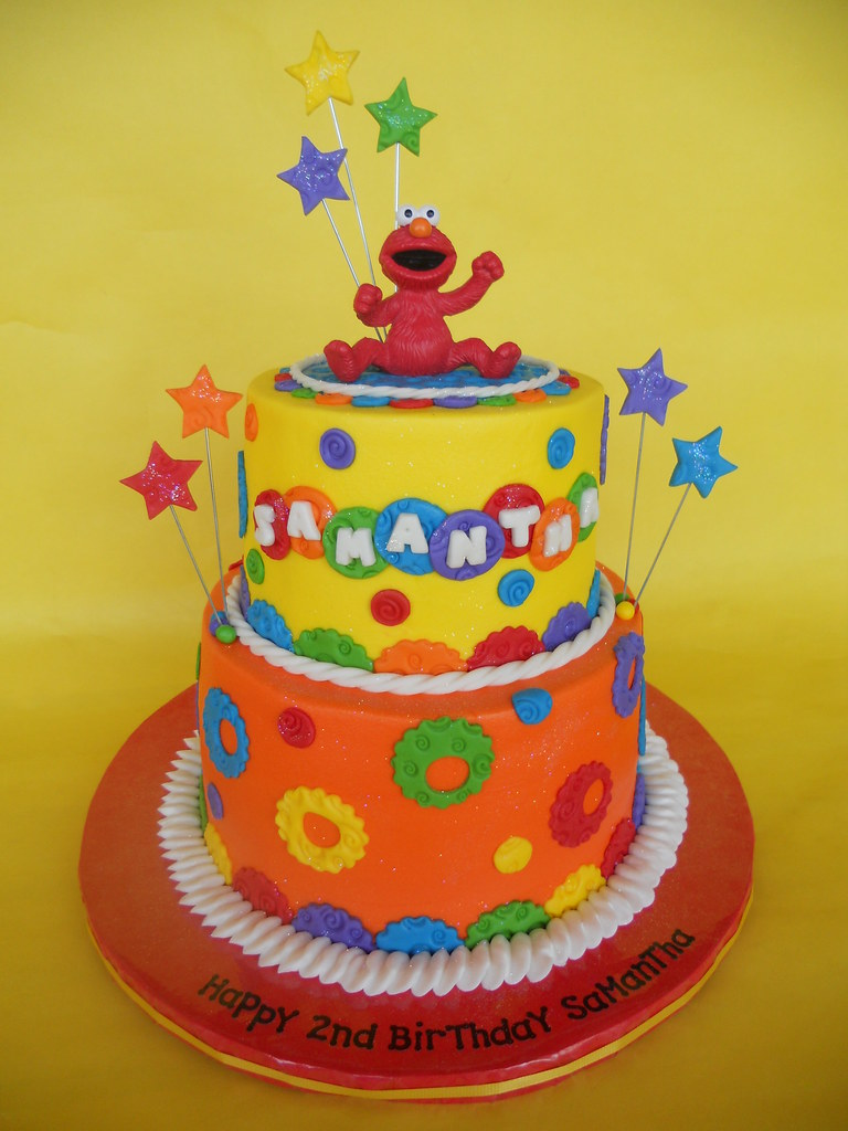 Outstanding Elmo 2Nd Birthday Cake Amy Stella Flickr Funny Birthday Cards Online Inifodamsfinfo