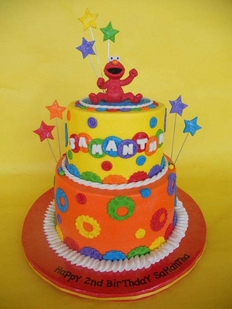 Swell Elmo 2Nd Birthday Cake Amy Stella Flickr Funny Birthday Cards Online Elaedamsfinfo