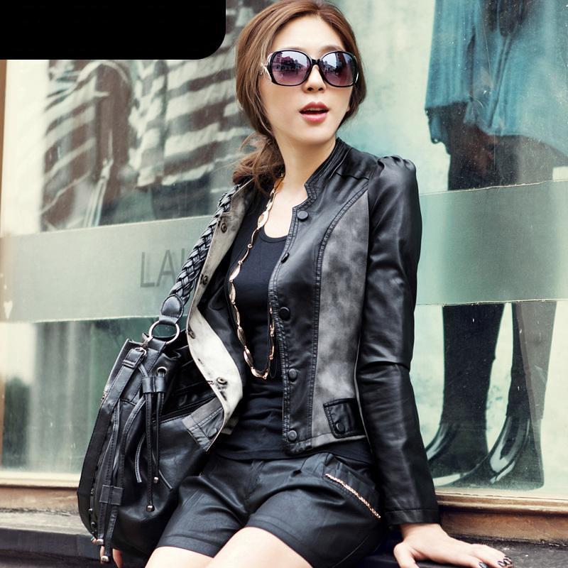 Ms. double-breasted Slim denim jacket