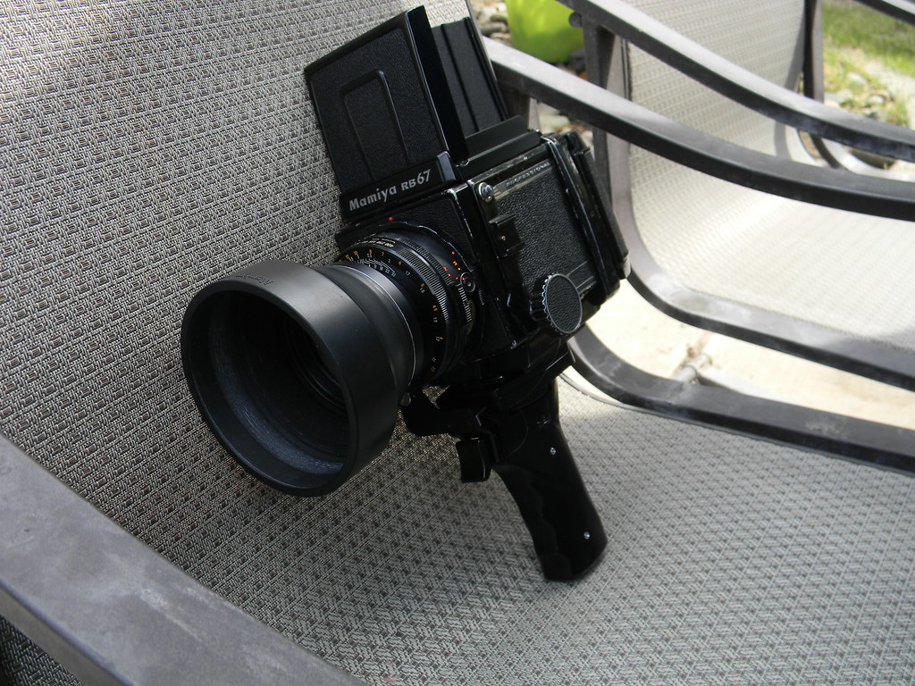 Mamiya RB67 with 127mm lens and pistol grip    I shoot film