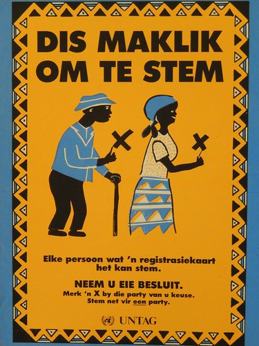 Windhoek-affiche in museum
